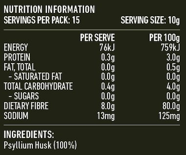 Lotus Psyllium Husks 98% (Shaker) 150g | Kadac - Organic